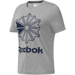 Υφασμάτινα Γυναίκα T-shirt με κοντά μανίκια Reebok Sport DT7221 Γκρί