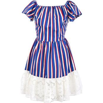 Υφασμάτινα Γυναίκα Κοντά Φορέματα Liu Jo F19384T2311 Μπλε