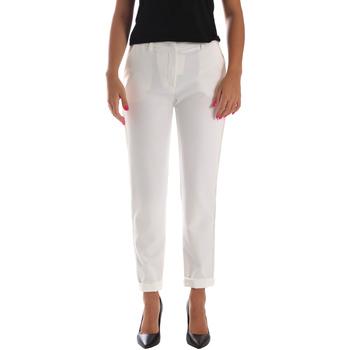 Υφασμάτινα Γυναίκα Παντελόνια Chino/Carrot Fracomina FR19SP684 λευκό