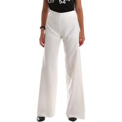 Υφασμάτινα Γυναίκα Παντελόνες / σαλβάρια Fracomina FR19SP637 λευκό