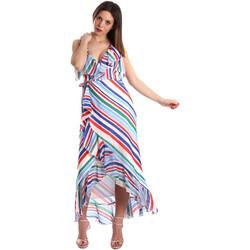 Υφασμάτινα Γυναίκα Μακριά Φορέματα Fracomina FR19SP594 λευκό