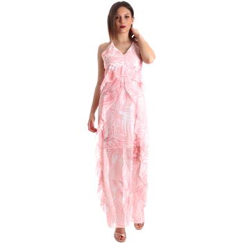 Υφασμάτινα Γυναίκα Μακριά Φορέματα Fracomina FR19SP429 Ροζ