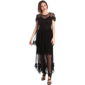 Υφασμάτινα Γυναίκα Μακριά Φορέματα Fracomina FR19SP364 Μαύρος
