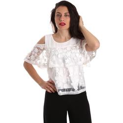 Υφασμάτινα Γυναίκα Μπλούζες Fracomina FR19SP605 λευκό