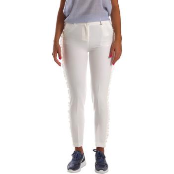 Υφασμάτινα Γυναίκα Παντελόνια Chino/Carrot Fracomina FR19SP666 λευκό