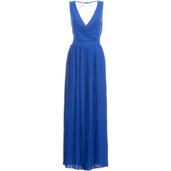 Υφασμάτινα Γυναίκα Μακριά Φορέματα Fracomina FR19SM673 Μπλε
