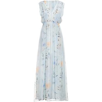 Υφασμάτινα Γυναίκα Μακριά Φορέματα Fracomina FR19SMCARLINDA Μπλε
