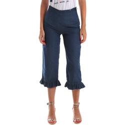Υφασμάτινα Γυναίκα Jeans 3/4 & 7/8 Fracomina FR19SM502 Μπλε