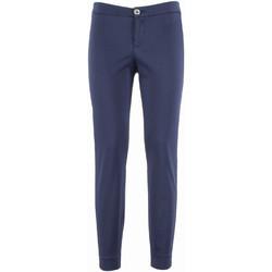 Υφασμάτινα Γυναίκα Παντελόνια Chino/Carrot NeroGiardini P960510D Μπλε