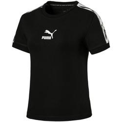 Υφασμάτινα Γυναίκα T-shirt με κοντά μανίκια Puma 579512 Μαύρος