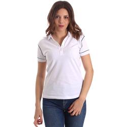 Υφασμάτινα Γυναίκα Πόλο με κοντά μανίκια  La Martina NWP002 PK001 λευκό
