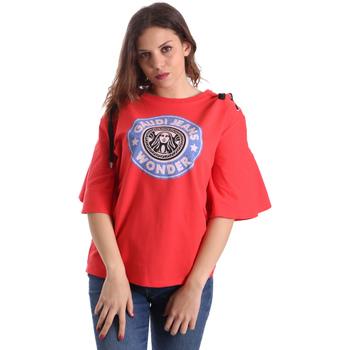 Υφασμάτινα Γυναίκα T-shirt με κοντά μανίκια Gaudi 911BD64037 το κόκκινο