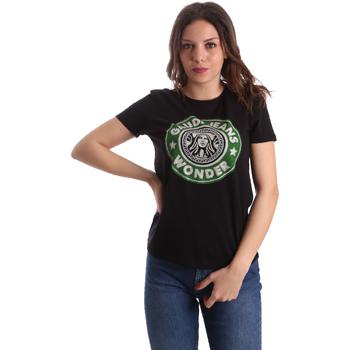 Υφασμάτινα Γυναίκα T-shirt με κοντά μανίκια Gaudi 911BD64038 Μαύρος