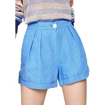 Υφασμάτινα Γυναίκα Σόρτς / Βερμούδες Pepe jeans PL800839 Μπλε