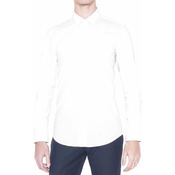 Υφασμάτινα Άνδρας Πουκάμισα με μακριά μανίκια Antony Morato MMSL00375 FA450001 λευκό