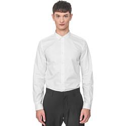 Υφασμάτινα Άνδρας Πουκάμισα με μακριά μανίκια Antony Morato MMSL00596 FA400072 λευκό