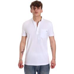 Υφασμάτινα Άνδρας Πόλο με κοντά μανίκια  Antony Morato MMKS01741 FA120022 λευκό