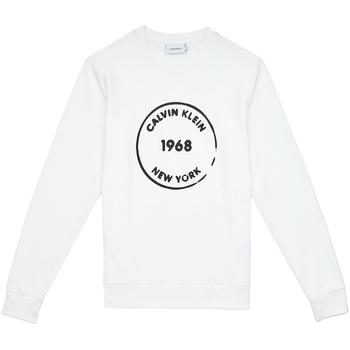Υφασμάτινα Άνδρας Φούτερ Calvin Klein Jeans K10K104548 λευκό