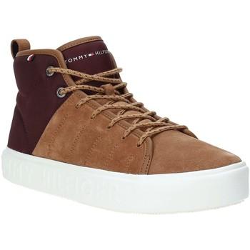 Παπούτσια Άνδρας Ψηλά Sneakers Tommy Hilfiger FM0FM02393 καφέ