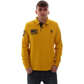 Υφασμάτινα Άνδρας Πόλο με μακριά μανίκια  U.S Polo Assn. 52416 47773 Κίτρινος