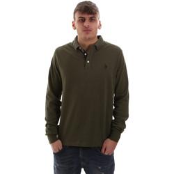 Υφασμάτινα Άνδρας Πόλο με μακριά μανίκια  U.S Polo Assn. 52415 47773 Πράσινος