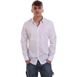 Υφασμάτινα Άνδρας Πουκάμισα με μακριά μανίκια Gaudi 921FU45014 λευκό