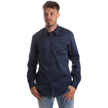 Υφασμάτινα Άνδρας Πουκάμισα με μακριά μανίκια Gaudi 921FU45014 Μπλε