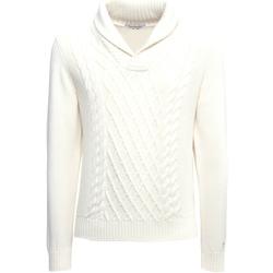 Υφασμάτινα Άνδρας Πουλόβερ NeroGiardini A974530U λευκό