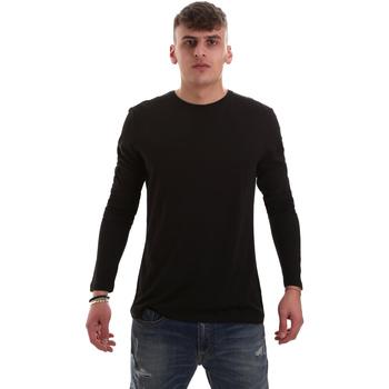 Υφασμάτινα Άνδρας Μπλουζάκια με μακριά μανίκια Antony Morato MMKL00264 FA100066 Μαύρος