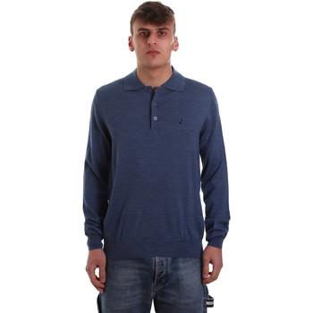 Υφασμάτινα Άνδρας Πόλο με μακριά μανίκια  Navigare NV11006 40 Μπλε