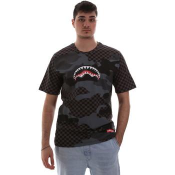 Υφασμάτινα Άνδρας T-shirt με κοντά μανίκια Sprayground SP018SBLA Μαύρος
