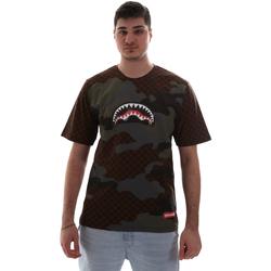 Υφασμάτινα Άνδρας T-shirt με κοντά μανίκια Sprayground SP018SBRO καφέ