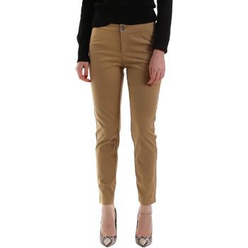Υφασμάτινα Γυναίκα Παντελόνια Chino/Carrot NeroGiardini A960700D καφέ