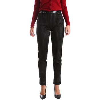 Υφασμάτινα Γυναίκα Παντελόνια Chino/Carrot Fracomina FR19FP619 Μαύρος