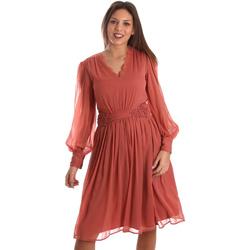 Υφασμάτινα Γυναίκα Κοντά Φορέματα Fracomina FR19FMREMI Ροζ