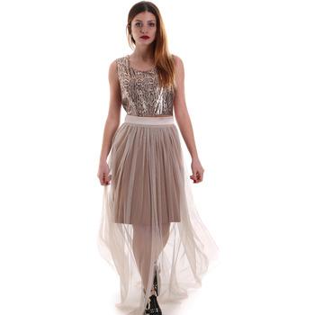 Υφασμάτινα Γυναίκα Μακριά Φορέματα Fracomina FR19FM518 Μπεζ