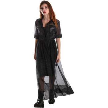 Υφασμάτινα Γυναίκα Μακριά Φορέματα Fracomina FR19FM567 Μαύρος
