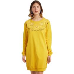 Υφασμάτινα Γυναίκα Κοντά Φορέματα Desigual 19WWVK86 Κίτρινος