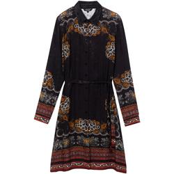 Υφασμάτινα Γυναίκα Κοντά Φορέματα Desigual 19WWVW34 Μαύρος