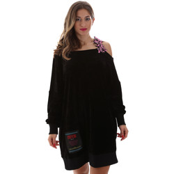 Υφασμάτινα Γυναίκα Κοντά Φορέματα Versace B6HUB77011684899 Μαύρος