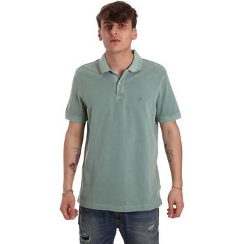 Υφασμάτινα Άνδρας Πόλο με κοντά μανίκια  Calvin Klein Jeans K10K105193 Πράσινος