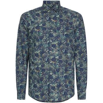 Υφασμάτινα Άνδρας Πουκάμισα με μακριά μανίκια Calvin Klein Jeans K10K105411 Μπλε