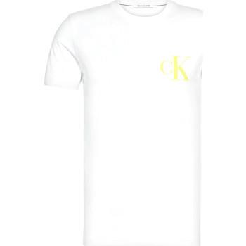 Υφασμάτινα Άνδρας T-shirt με κοντά μανίκια Calvin Klein Jeans J30J315175 λευκό