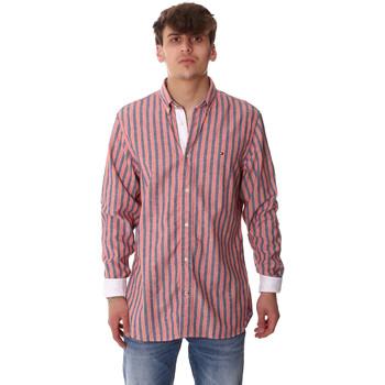 Υφασμάτινα Άνδρας Πουκάμισα με μακριά μανίκια Tommy Hilfiger MW0MW12765 Ροζ