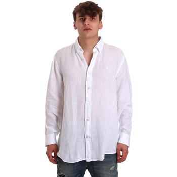 Υφασμάτινα Άνδρας Πουκάμισα με μακριά μανίκια Navigare NV91108 λευκό