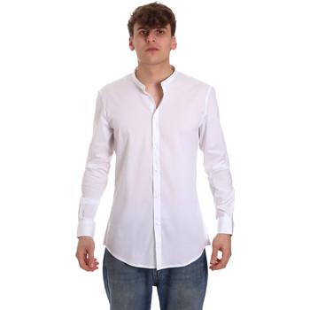 Υφασμάτινα Άνδρας Πουκάμισα με μακριά μανίκια Gaudi 011BU45013 λευκό