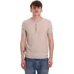Υφασμάτινα Άνδρας T-shirt με κοντά μανίκια Gaudi 011BU53007 Μπεζ