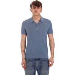 Υφασμάτινα Άνδρας Πόλο με κοντά μανίκια  Gaudi 011BU53011 Μπλε