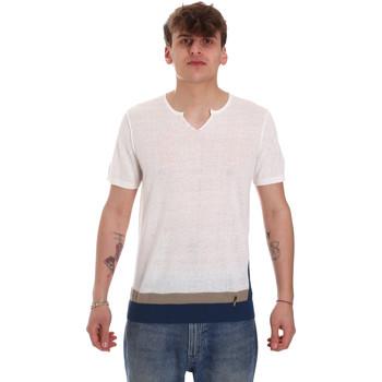 Υφασμάτινα Άνδρας T-shirt με κοντά μανίκια Gaudi 011BU53021 Μπεζ