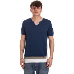 Υφασμάτινα Άνδρας T-shirt με κοντά μανίκια Gaudi 011BU53021 Μπλε